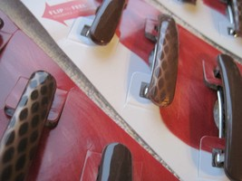 3 Brown Goody Stay Put Slide Proof Hair Barrettes Secure Back Clips Rubbery - $12.00