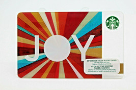 Starbucks Coffee 2015 Gift Card JOY Christmas Holiday Colorful Zero Balance - $11.27