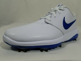 Nike Roshe G Tour Golf Shoes Size 7.5 Men's White Blue Leather Cleats AR... - $59.99
