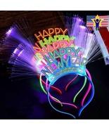 2020 Happy New Year Party Headband Light Up Glowing Hair Band LED Flashi... - $7.89