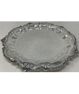 "Vintage 15"" Silverplate WALLACE ""Chippendale"" Footed Serving Tray X110 (... - $75.99"