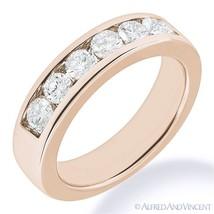 Round Cut Forever ONE D-E-F Moissanite 14k Rose Gold 7-Stone Band Wedding Ring - €651,30 EUR - €3.014,41 EUR
