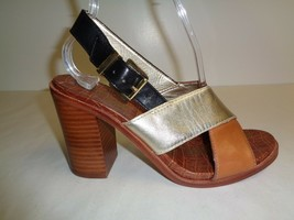 Sam Edelman Size 7.5 M IVY Brown Leather Strappy Heels Sandals New Womens Shoes - $98.01