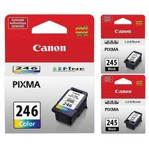Genuine Canon PG-245 Black Ink Cartridge - 2 Pieces (8279B001) + Canon CL-246 Co - $99.95