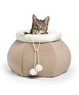 """Best Friends by Sheri 4-in-1 Kitty Pouch-Cuddler in Ilan, Wheat, 14""""x14""""... - $19.98"""