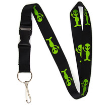 Alien w/ Middle Finger Lanyard Keychain and ID Holder with Detachable Bu... - $7.99