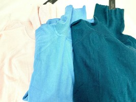 Talbots Petites PM Womens Turtleneck Sweater Rayon Nylon NWT $59.50 Asso... - $14.56