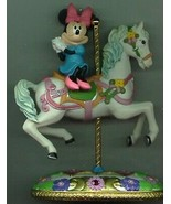 Disney Minnie Mouse on a Carousel Horse Figurine in original box - $195.00