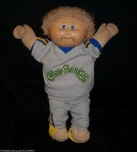 Vintage Cabbage Patch Kids Baby Doll Boy Blonde Hair Stuffed Animal Plush Toy N - $32.73