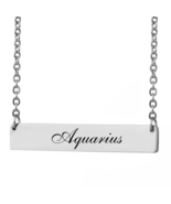 Custom Any Name Bar Necklace Christmas Mother Day Gift for Aquarius - $9.99+