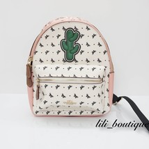 NWT New Coach F59330 Mini Charlie Backpack Canvas Butterfly Bandana Blus... - $168.26