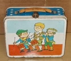 1978 Ohio Art- Patriotic Metal Lunchbox- NO Thermos - $9.89