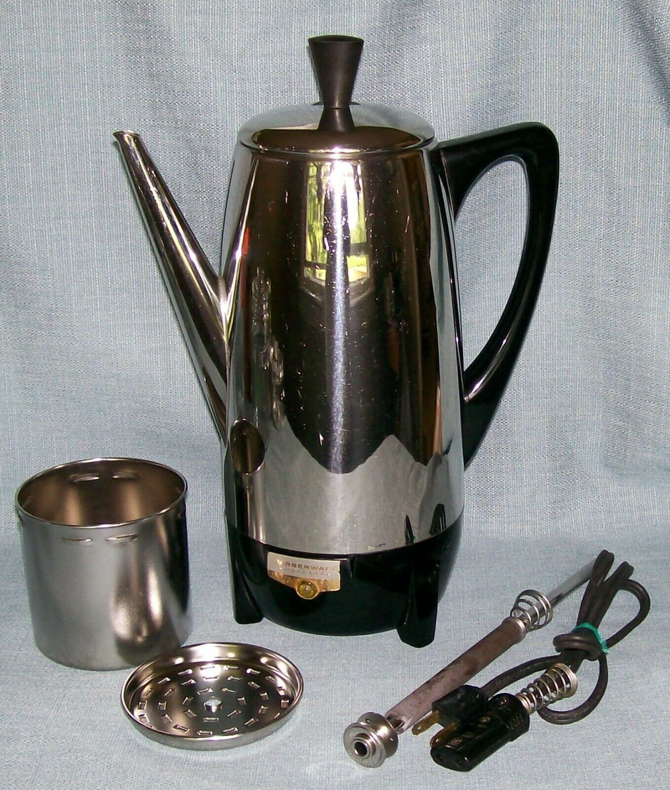 Vintage Farberware Superfast 12 Cup Percolator Coffee Pot 122 Automatic New York