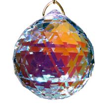 Swarvoski Strass Crystal 20mm Faceted Ball Prism  Aurora Borealis image 1