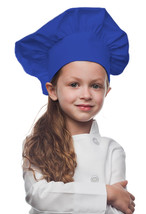 Royal Blue Kids Chef Hat made from High Quality Cotton/Twill Fabric - $14.99