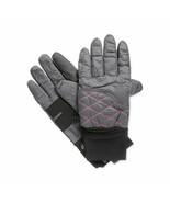 New XL L Isotoner Womens Ski Gloves Waterproof SmarTouch SleekHeat Gray ... - $11.98