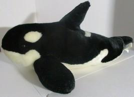 "2011 Sea World Shamu Orca Killer Whale 17"" Plush Stuffed Animal Toy Mari... - $9.89"