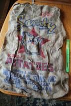 Sandy Brand Potatoes Burlap Jute Bag Plover Wisconsin Worzella & Sons Vi... - $39.60