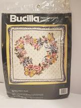 """Bucilla """"Butterfly Wreath"""" Needlepoint Kit Pillow 4635 - $25.50"""
