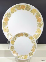 Noritake Progression Sunny Side Dinner and Bread Plate White Yellow Oran... - $15.84