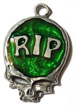 RIP Skull Fine Pewter Pendant Approx. 1 5/8 inches tall image 9