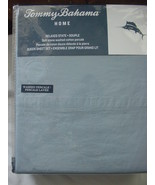 Tommy Bahama Relaxed State Stone Washed Cotton Percale Ocean Blue Sheet ... - $82.00