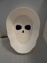 Skeleton Skull White 3 Quart Plastic Halloween Candy Snack Bowl New  - $10.88