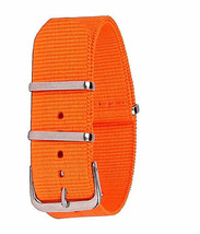 22mm X 255mm Nato Canvas Nylon wrist watch Band strap ORANGE - €11,92 EUR