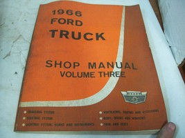 1966 Ford Truck Factory Shop Manual Volume Three - $22.72