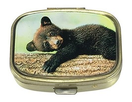 Value Arts Pill Box - Black Bear Cub - 2 Compartment - 2.25 Wide - $18.35
