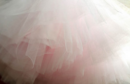 Puffy Layered Tulle Skirt High Waisted Ballerina Tulle Skirt Pink Plus Size image 2