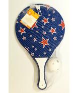 New! 3 Piece Junior Tennis Racquet & Ball Set Blue w/ Stars - $5.93