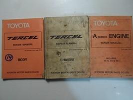 1980 Toyota Tercel Service Repair Shop Manual Set Factory OEM Books Used... - $59.35