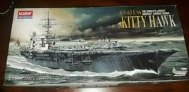 New! Academy Model Uss Kitty Hawk Aircraft Carrier CV-63 2 Bonuses Free Shipping - $34.99