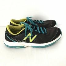 NEW BALANCE Womens Black Yellow Lace Up Cross-Training Sneakers WX813BK2... - $27.83