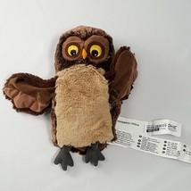 "Owl Hand Puppet Soft Plush IKEA Vandring Uggla Stuffed Animal Toy 9"" Glove - $13.95"