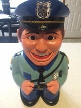 Cookie Jar Talking Cop Police Officer Fun-Damental 2001 Hard Plastic Stop! - $42.95