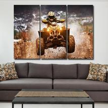 Framed 3 Piece ATV  Canvas Painting Wall Art Home Decor - $104.39 CAD+