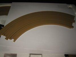 "1989 Aurora Devil's Ditch Slot Car Playset piece: 9"" R Curve 1/4 Circle Track  - $3.00"