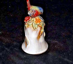 Ceramic Bird Bell with Ringer AB 328 Vintage image 5