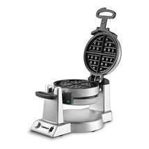 Double Belgian Waffle Maker Round Nonstick Rotating Stainless Steel 6-Se... - ₹9,317.11 INR