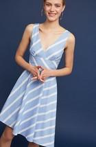 NWT $158 Anthropologie by Tracy Reese Striped Poplin Dress SZ 12P Blue/Sky - $77.22