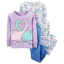 Carter's Baby Girls' 4 Pc CottonPJ, Double Dino 12 Months - $29.92