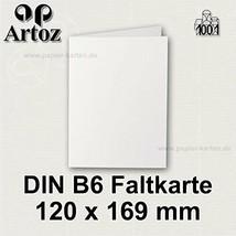 50x original ARTOZ DIN B6 Faltkarten - hochdoppelt - 220 g/m² // SERIE 1... - $43.68
