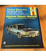 Ford & Mercury 1973-1986 Full Size Models Haynes Repair Manual Book 3603... - $19.99