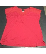 SIMPLY STYLED By Sears women's Cap Sleeve Red Rayon/Spandex Knit Top Siz... - $6.83