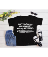 Dont Confuse Attitude Sarcastic Cool Graphic Gift Idea Adult Humor T-Shi... - $13.85+