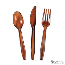 Chocolate Brown High Count Cutlery Sets 210 Piece(s) - $12.49