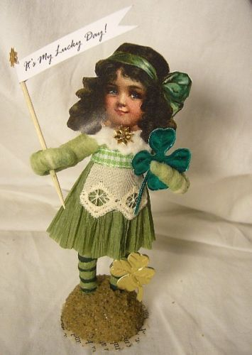 Vintage Inspired Spun Cotton St. Patrick's Day Lass
