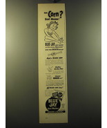 1949 Bauer & Black Blue Jay Corn Plasters Ad - Sore corn? Don't mourn! - $14.99